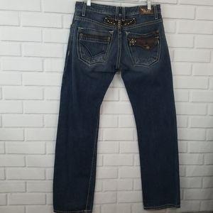 Robin's Jean Tabacco Zipper Fly Straight Jeans